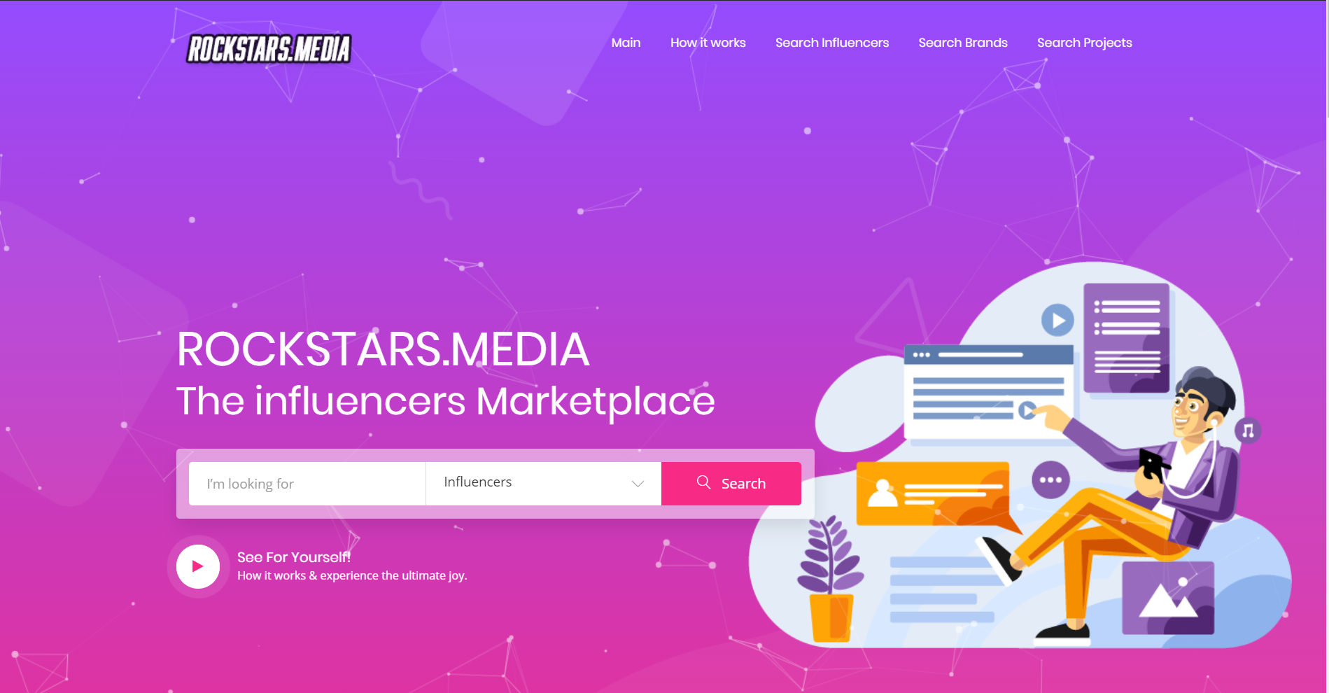 ROCKSTARS.MEDIA goes live launching influencer marketing platform and marketplace