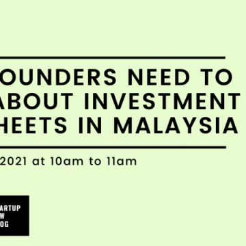 Event: What Founders Need to Know about Investment Term Sheets in Malaysia